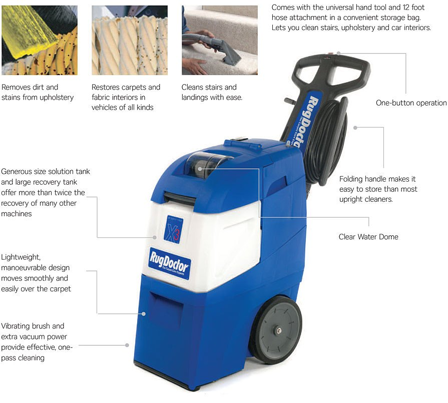 ... Increased Dirt And Allergen Extraction Power Increased Solution  Recovery For Even Quicker Drying New Triple Row · Rug Doctor ...