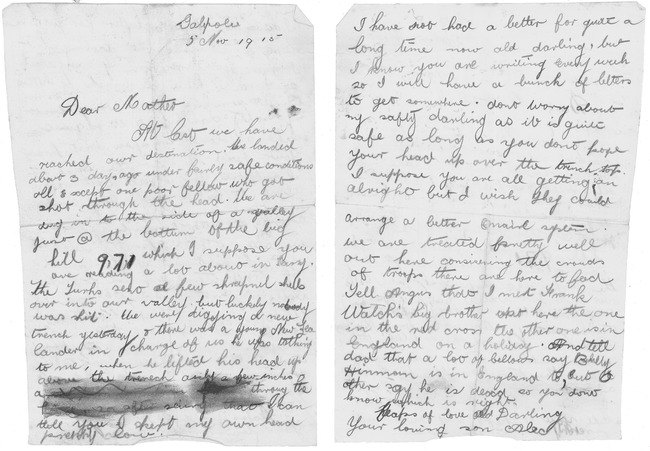 Soldiers Last Letter.Letter From Gallipoli