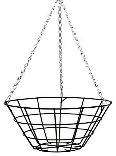 12 u0026quot  flat bottom narrow wire hanging basket