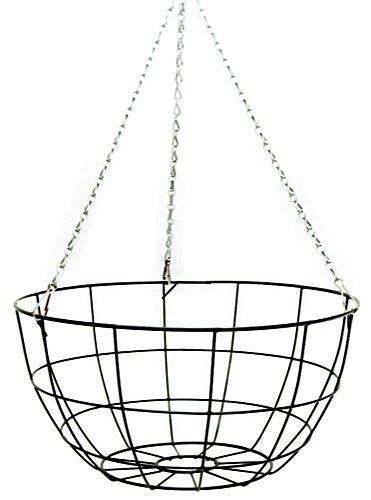 14 u0026quot  round flat bottom wire hanging basket