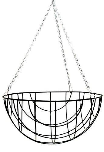 14 u0026quot  round bottom wire hanging basket