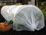 Easy Fleece Tunnels for overwintering vegetable and fruit plots
