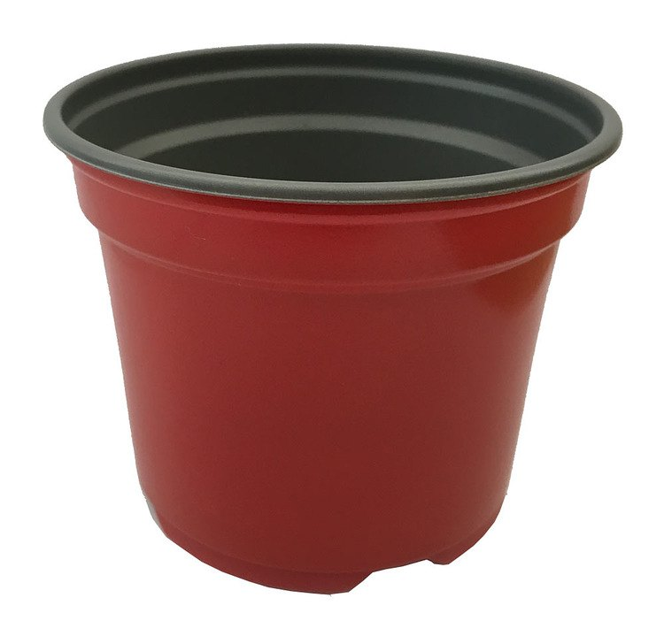 9cm Red Round Plant Pots X 10