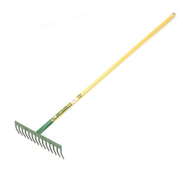 Lasher deluxe garden 14 tooth all steel rake for Garden tools hand rake