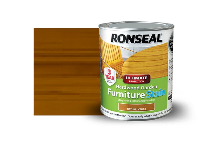 Ronseal Garden Furniture Stain Ronseal hardwood furniture stain english oak 750ml workwithnaturefo