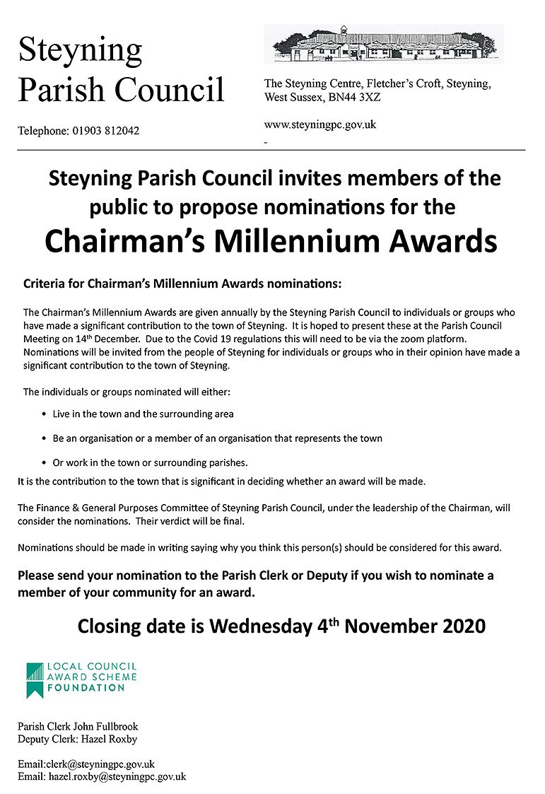 Millennium Awards Steyning